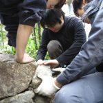 西陣のお地蔵さん−3 基壇石積み 12/17