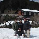 雪の中の小塩の家 雨漏り修繕  2月27日