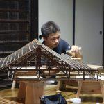 千本釈迦堂小屋組模型台をつくる−2 5月12日