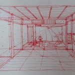 伝統建築研究科 島原の町家実測〜透視図スケッチの描き方 6月30日