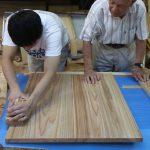 島原の町家に付ける洗面台を製作中 7月13日