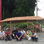 上松の休憩所に木のテントを建てました 8月24〜5日