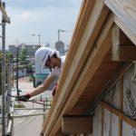 平成の京町家解体作業 東面断熱材撤去 8月31日