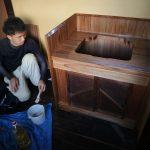 島原町家の洗面台取り付け 8月1日