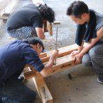 平成の京町家解体材を収納する小屋を建設する 8月5日