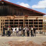 平成の京町家解体材を収納する小屋を建設する 8月7日