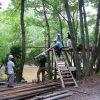 木匠塾2日目 ツリーハウス解体終了!  8月8日