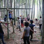 向日町の竹林でのワークショップ 8月12日