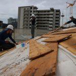 平成の京町家解体現場から 大屋根野地板撤去 9月12日