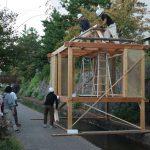 学園祭の堀川茶室をつくる 10月26日