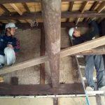 島原の町家改修工事−3 天井下地と母屋油拭き 11/26