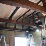 島原の町家改修工事−6 天井がもう少しで終了 床剥がし 1/17