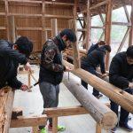 夏の木匠塾の続き@京北合併記念の森−1 2月13日