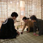 竹茶室でのお茶席@卒業制作展 3/1