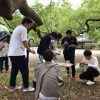 京都御苑で木のスケッチ演習2回目