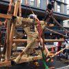 雨の祇園祭のスケッチ演習