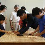 京都の木で箸をつくろう!@京エコロジーセンター 8月19日