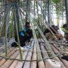 竹林木匠塾−5 玉ねぎ茶室を制作 9月23日