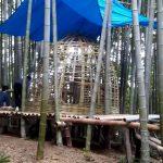竹林木匠塾−6 玉ねぎ茶室を制作 10月6日