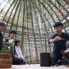 竹林木匠塾−7 竹茶室完成・お披露目茶席 10月20日