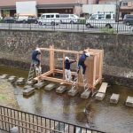 堀川茶室−5 建て方始まりました 10月20日