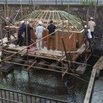 堀川茶室−8 屋根下地を組む 10月26日