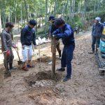 竹林小屋建設プロジェクト−7 基礎掘り方  11月14日