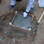 竹林小屋建設プロジェクト−8 基礎コンクリート打ち 11月21日