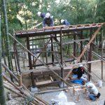 竹林小屋−12 野地板と貫 12月12日