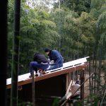 竹林小屋−14 屋根張り 1月16日