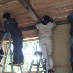 竹林小屋建設−18 天井、出窓、ひさし 2月20日