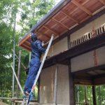 竹林小屋建設−16 床板張り 2月6日