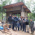 竹林小屋建設−19 学生工事最終・打上げ会 2月27日