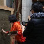 京都市ふるさと納税WS土壁塗り−2 3月28日