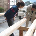 宇治の茶園小屋を建てる−4 母屋の継手刻み  4月16日