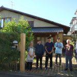 稲荷山の家の門柱取替工事 6月7日