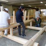 宇治茶園小屋建設−10 8月24日
