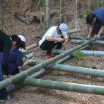 竹林木匠塾2020−3 竹小屋のフレームをつくる 8月9日