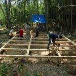 竹林木匠塾2020−6 舞台を据え付けました! 8月22日