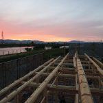 宇治茶園小屋建設−16 建て方3日目 9月21日
