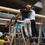 宇治茶園小屋建設−12   仮組 9月12日