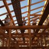 宇治茶園小屋建設−18 垂木を納める 9月28日