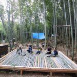 竹林木匠塾2020−7 舞台の竹すのこつくり  9月27日〜10月4日