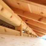 宇治茶園小屋建設−20 屋根断熱材+野地 10月5日