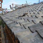 宇治茶園小屋建設−21 瓦屋根工事/土壁下地 10月8〜15日