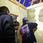 学園祭堀川茶室−2 屋根の垂木&壁塗り 10月26日