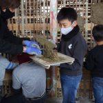 茶園小屋建設−25 荒壁塗りイベント 12月13日