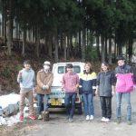 仁王門通りの長屋改修−5 トイレを解体ガラ運び 12月19日、25日
