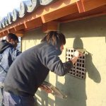 茶園小屋建設−26 ずっと土壁塗り 12月24日〜1月18日