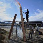 茶園小屋建設−27 焼き板作り 1月30日  【動画】